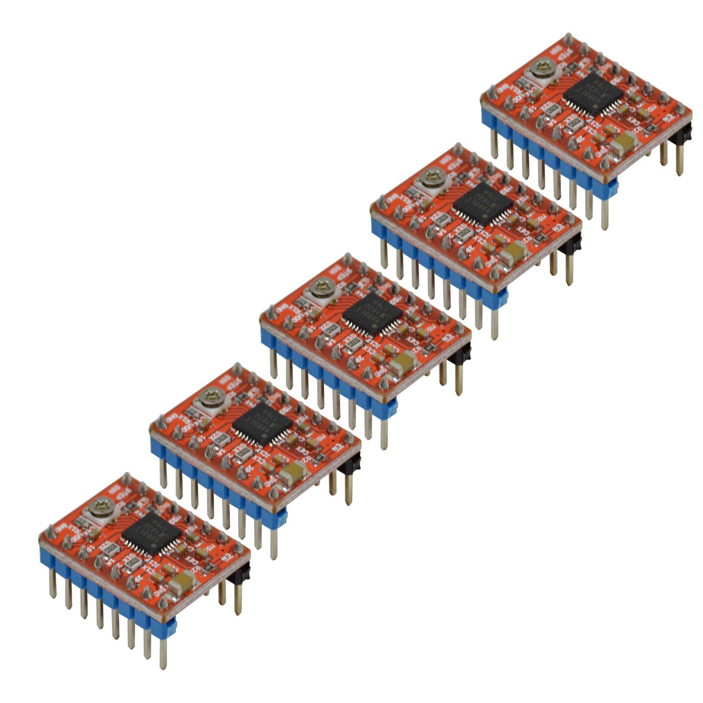 Adealink 3D Printer Kit GT2560 Controller Board 5 Pcs A4988 Stepper Motor Driver LCD 2004 Display