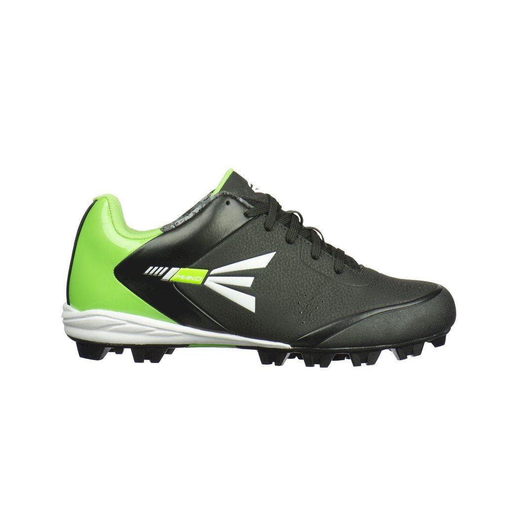 Image of Easton Mako 2.0 Mens Molded Low Baseball Cleat, Black/Green 13