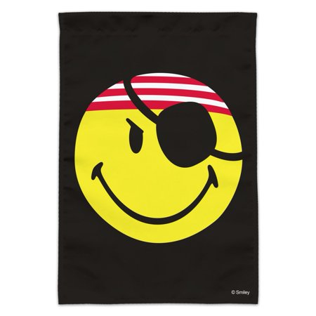 Image of Smiley Smile Pirate Happy Yellow Face Garden Yard Flag