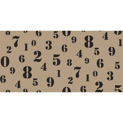 Springs Creative Burlap Stenciled Numbers Fabric