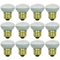 12 Pack Sunlite Incandescent 25 Watt R14 Reflector 170 Lumens Frost Light Bulb