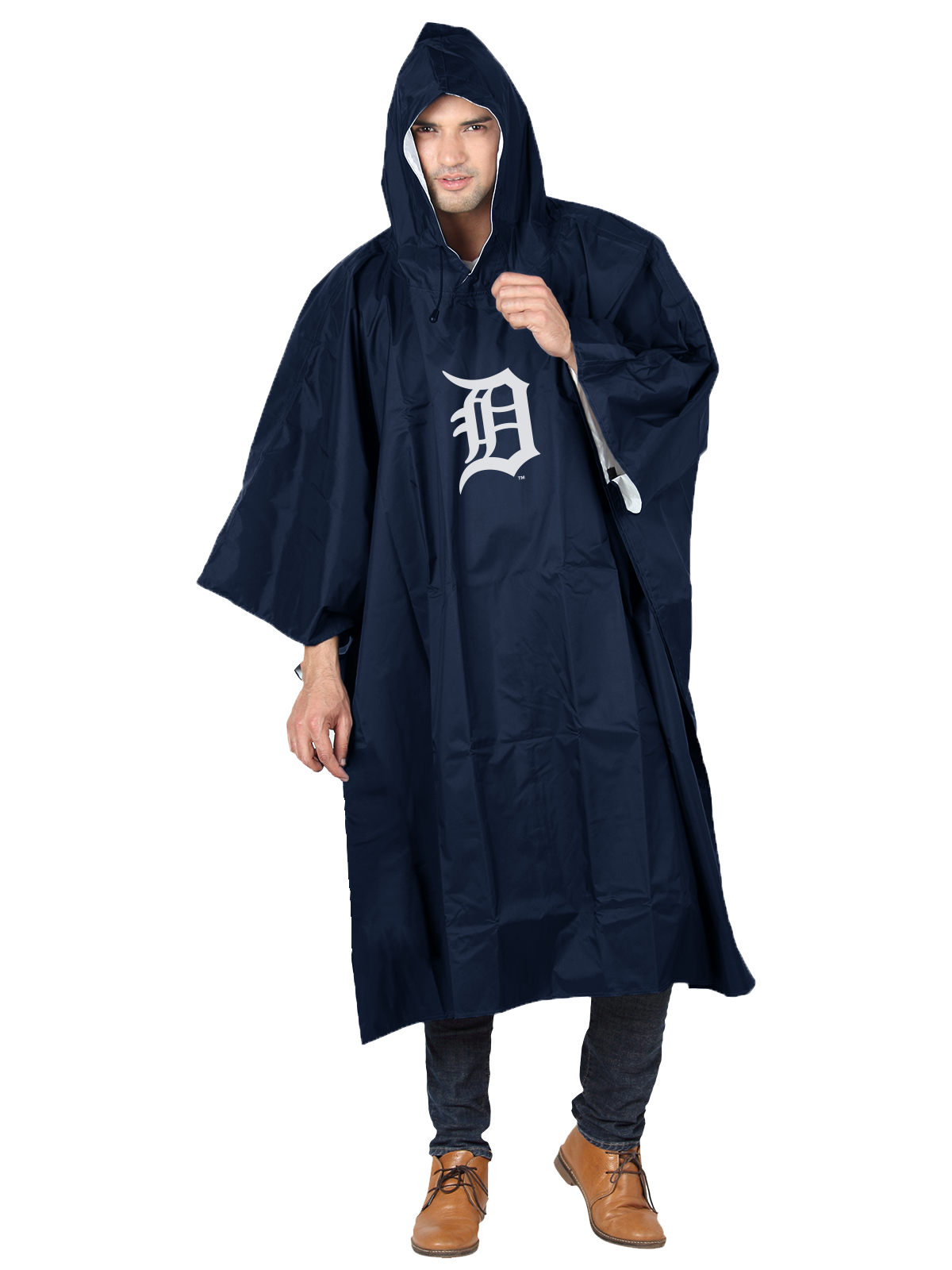 MLB Detroit Tigers �Deluxe� 44�H x 49�W (Adult Size) Poncho by The Northwest Company