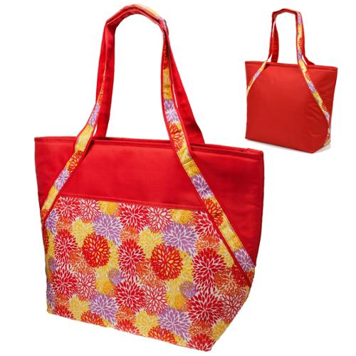 Super Sachi Hot/Cold 50-Can Insulated Cooler Picnic Lunch Tote Bag FLORAL RED