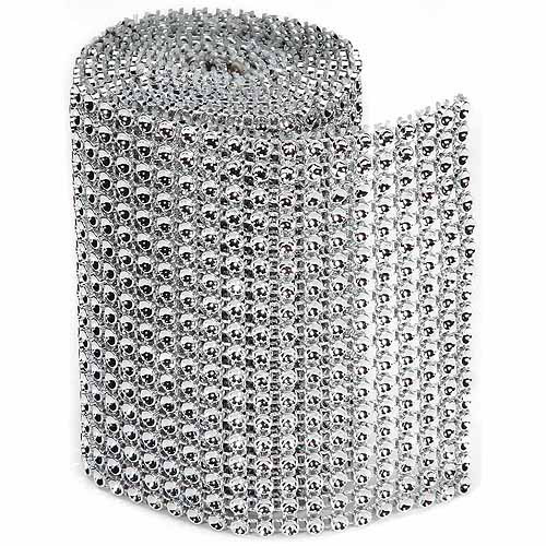 Darice Bling On A Roll, 3mm x 1yd, Silver