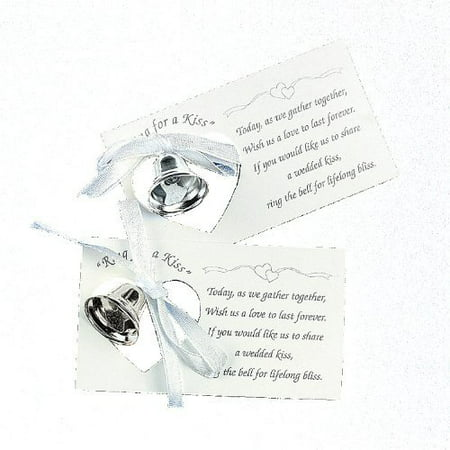 Silver Wedding Mini Bell Decorations Favors (Set of 50)