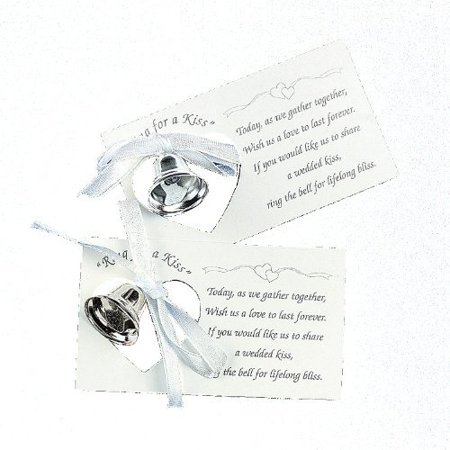 Wedding Bell Favors (Silver Wedding Mini Bell Decorations Favors (Set of)