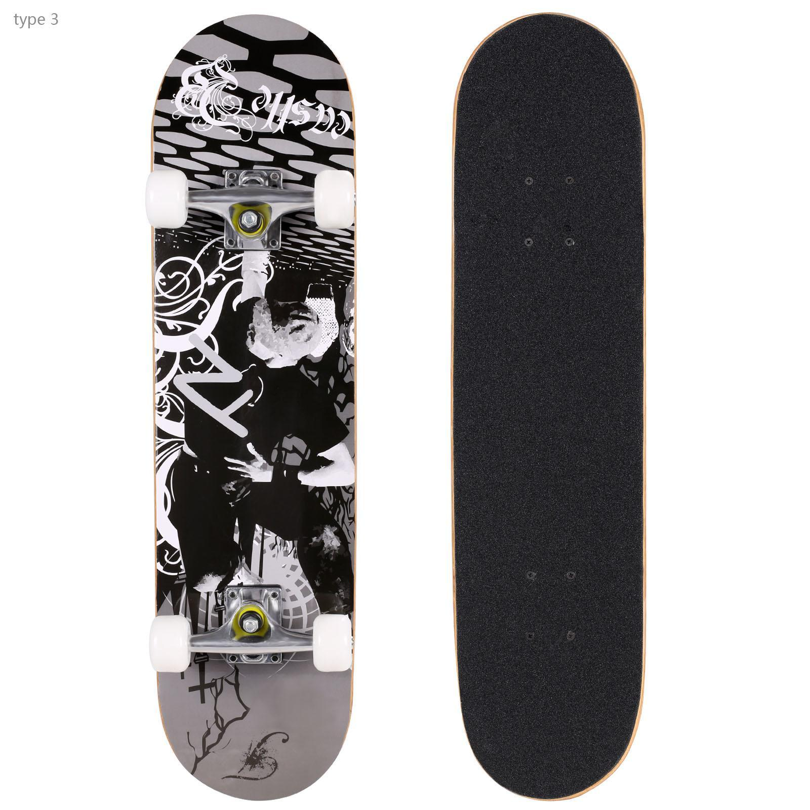 BLANK COMPLETE Skateboard BLACK DP 7.25 MIN Skateboards