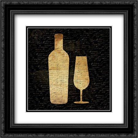 Wine Shadows C2 2x Matted 20x20 Black Ornate Framed Art Print by Grey, Jace
