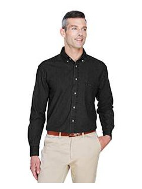 0ed1c17a02d Product Image Harriton Men s 6.5 oz. Long-Sleeve Denim Shirt