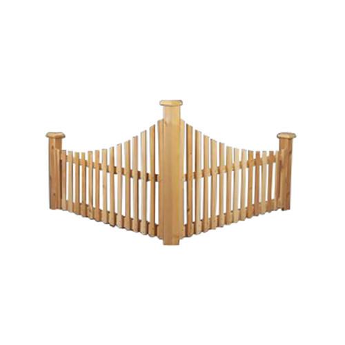 Rustic Natural Cedar Furniture 2.5' x 4' Cedar Corner Fence by Rustic Natural Cedar Furniture Co