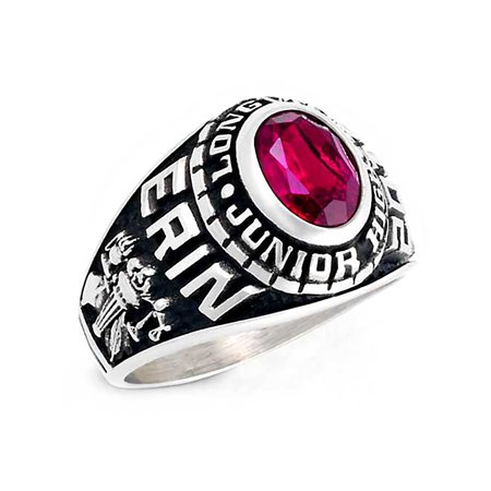 (Keepsake Personalized Women's Middle School or Junior High Ring in Valadium)