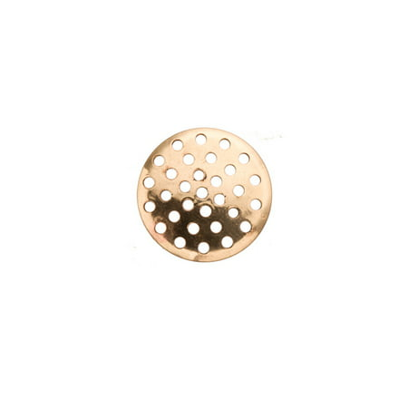 Perforated Disk (16mm Gold Finished perforated Disc Sold per pkg of 20, 1845Fd)