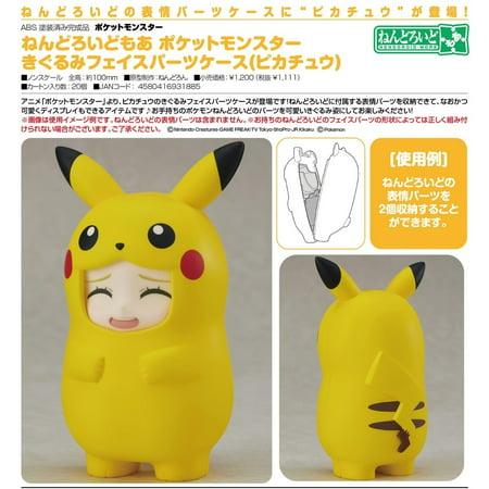 Good Smile Pokemon Nendoroid Face Parts Case Pikachu Costume Accessory
