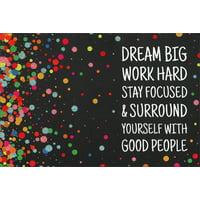 Pictura Dream Big Work Hard Graduation Congratulations Card