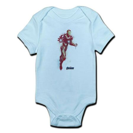 CafePress - Iron Man - Baby Light Bodysuit - Iron Man Baby