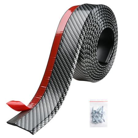 - Yescom 8.2ft/250cm Universal Carbon Fiber Front Bumper Lip Strip Splitter Spoiler Side Skirt for Car Truck