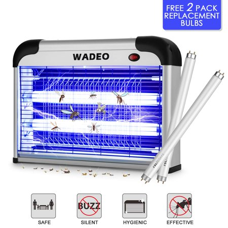 Odoland Bug Zapper Indoor with Noiseless and Smokeless Mosquito Killer Attracts and Kills Mosquitoes, Flies, Moths and Other Bug Class(Free 2 Pack Replacement