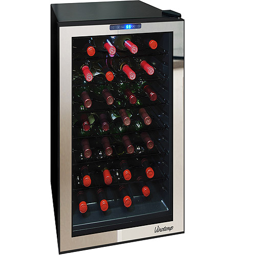 Vinotemp 28-Bottle Mirrored Thermoelectric Wine Cooler