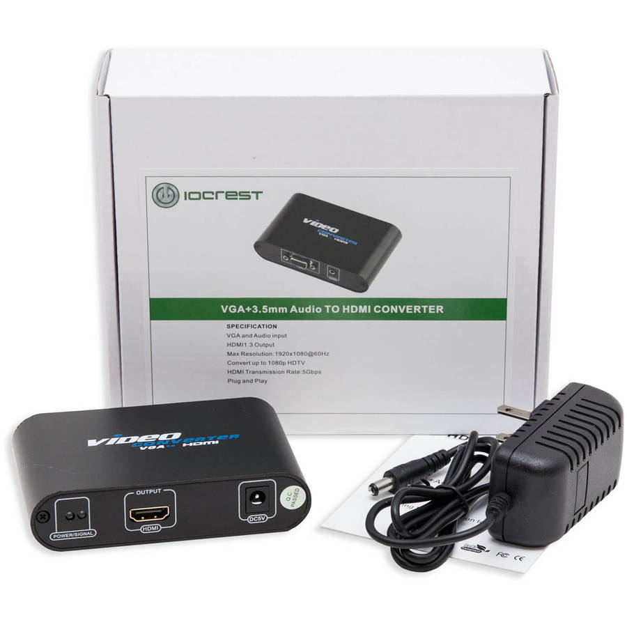 Syba VGA HD15 + 3.5mm Audio to HDMI Converter