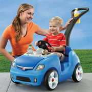 Step2 Whisper Ride II Ride-On, Handle Folds Under For Easy Transport And Storage, Blue