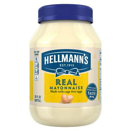 (2 Pack) Hellmann's Real Mayonnaise, 30 fl oz