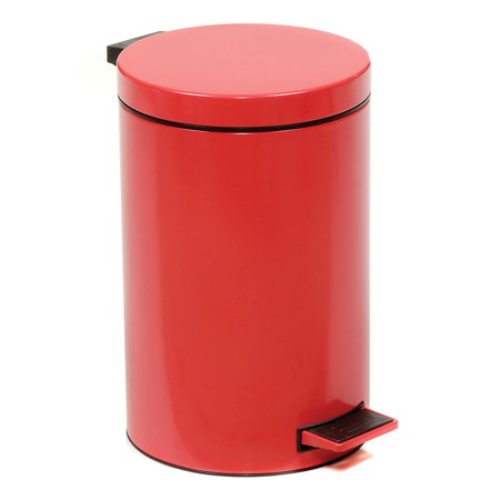 Step On Trash Can, 3-1/2 Gallon, Red, Lot of 1 ()