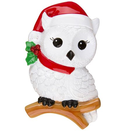 Snowy Owl  Personalized Christmas Ornament DO-IT-YOURSELF - Christmas Owls