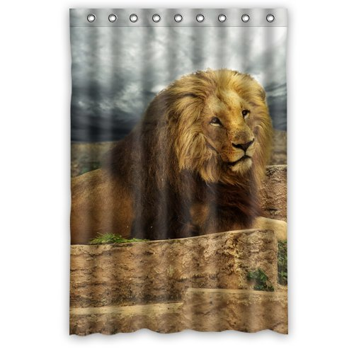 Ganma Cool Lion King Shower Curtain Polyester Fabric