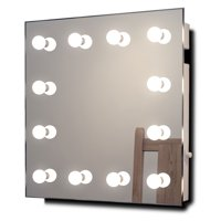 Diamond X Wall Mount RGB Hollywood Makeup Mirror with Dimmable LED - k411rgb