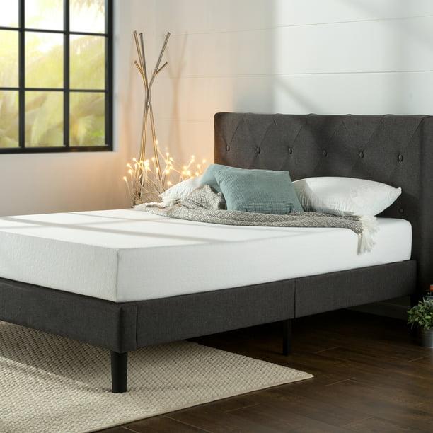 Zinus Shalini 41 Upholstered Platform, Upholstered Platform Queen Bed Frame