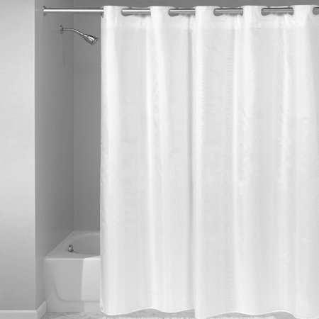 BED BATH N MORE Hookless Fabric Solid Color Shower Curtai