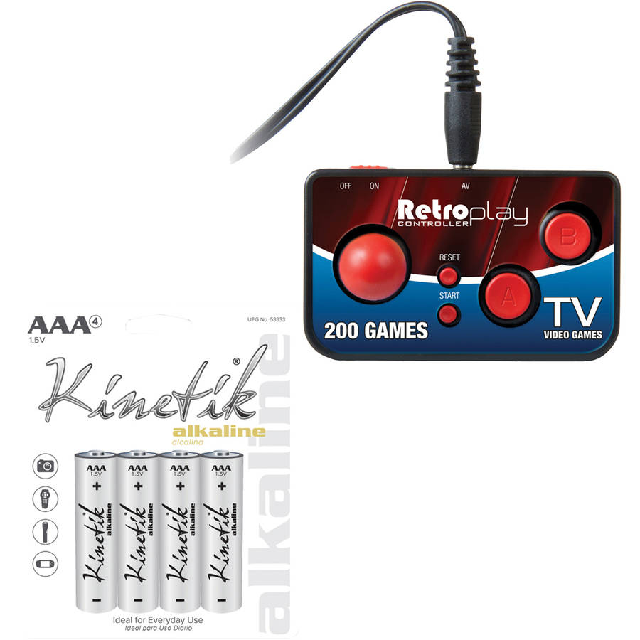 Image of Dreamgear DGUN-2579 My Arcade Retroplay Plug & Play Controller & Kinetik 4 PK AAA