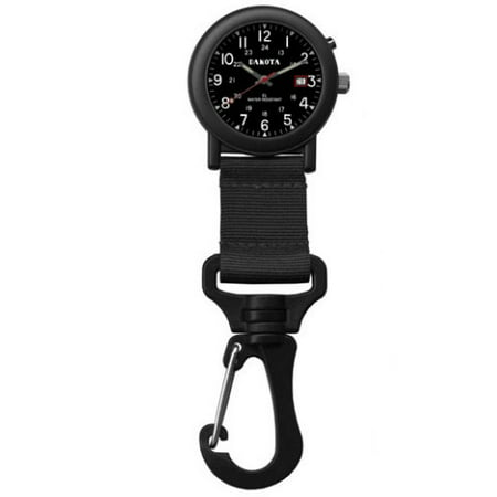 Military Black Dial (Black Lightweight Clip Watch with Military Dial and EL)