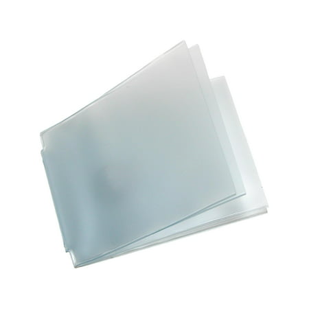 Size one size Vinyl Window Inserts for Billfold Wallets with Wing Bar (Pack of 5)