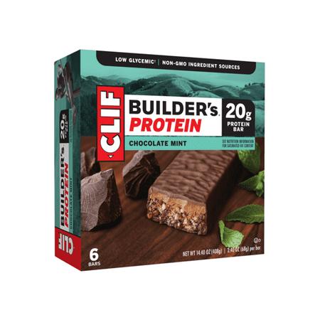Clif Builder's Protein Bar, Chocolate Mint, 20g Protein, 6