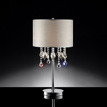Ore international inc drape crystal table lamp for Table decor international inc