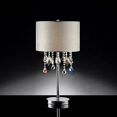 ore international inc drape crystal table lamp