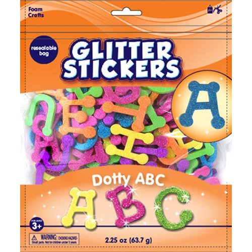Foam Glitter ABC Stickers
