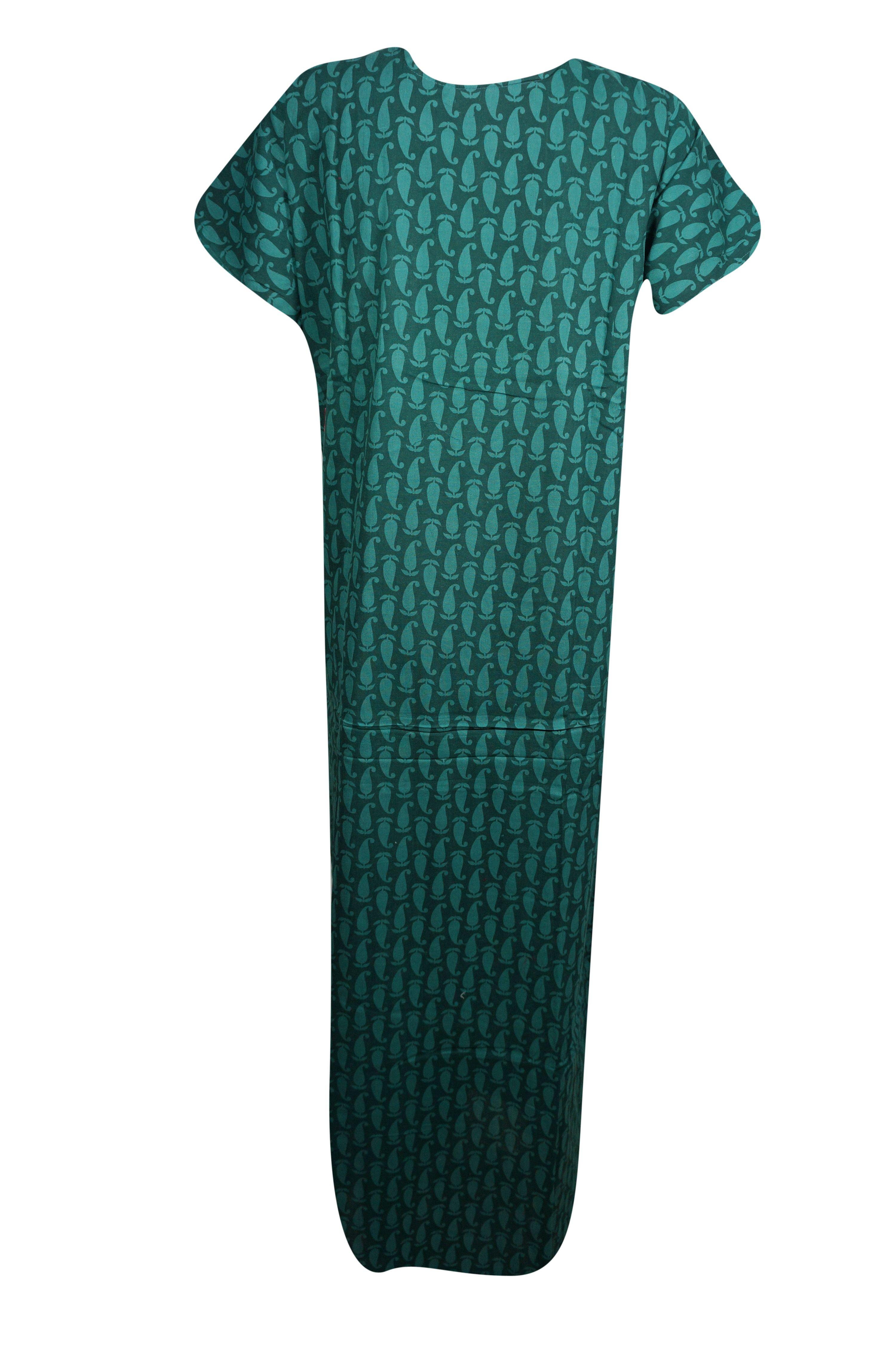 455d012728 Mogul Interior - Mogul Womens Maxi Caftan Dress Neck Embroidered Cotton  Short Sleeves Summer Comfy Evening Kaftan Nightgown L - Walmart.com