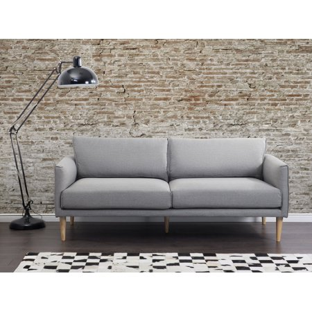Wondrous Mid Century Modern Fabric Sofa Gray Tight Back Uppsala Creativecarmelina Interior Chair Design Creativecarmelinacom