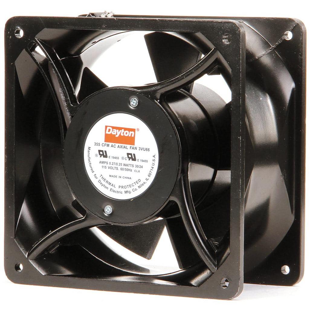 "Dayton Square Axial Fan, 6-15 16"" Width, 6-15 16"" Height, 115VAC Voltage 3VU66 by Dayton"