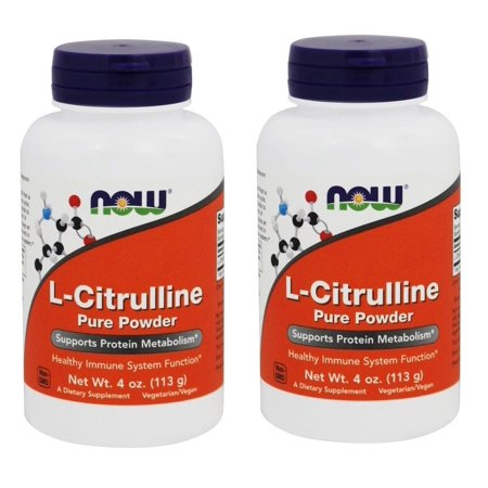 Now Foods L-Citrulline Pure Powder, 4 oz, 2 Packs