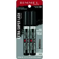 (2-Pack) Rimmel Extra Super Lash Mascara, Black, 0.27 oz