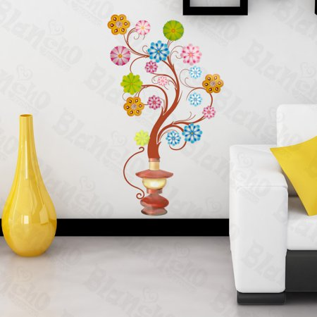 Flower Wall Appliques (Flower Lamp - Large Wall Decals Stickers Appliques Home Decor)