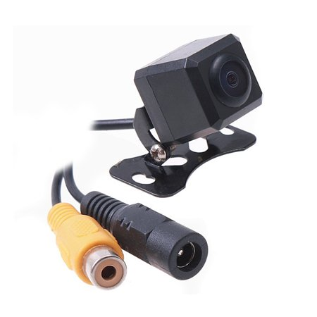 Car Auto Rear View Camera Backup Cam Bumper Screw Mount Universal Fit Mirrored Image w/ Grid Lines