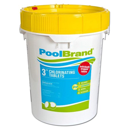 Pool Brand 3-Inch Swimming Pool Chlorine Tablets - 50