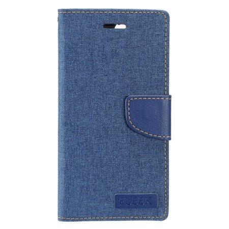 "Insten Book-Style Leather Fabric Cover Stand Card Case w/Photo Display for Apple iPhone 8 Plus / iPhone 7 Plus (5.5"") - Blue - image 4 de 4"