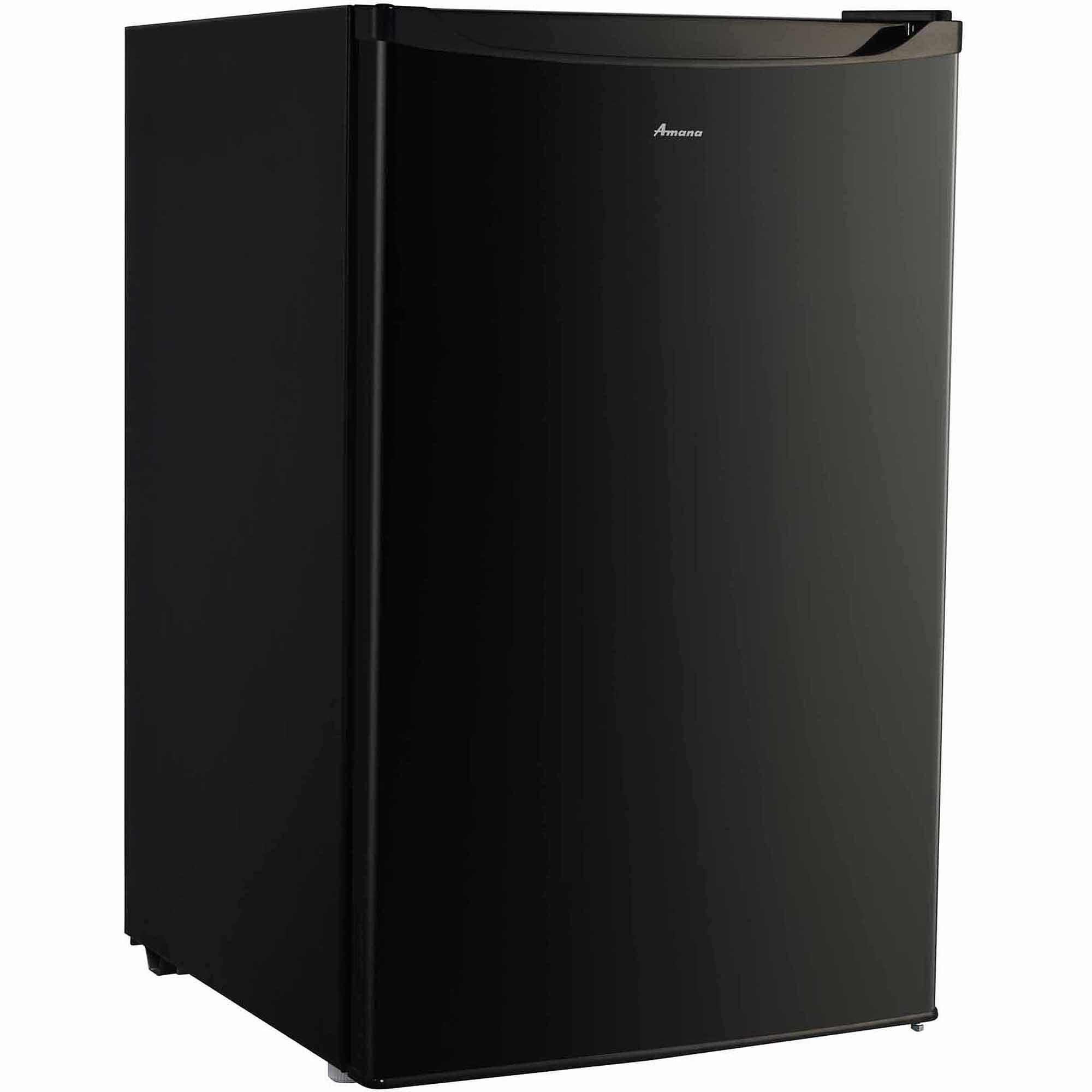 Amana 4.3 cu ft Compact Single-Door Refrigerator, Black