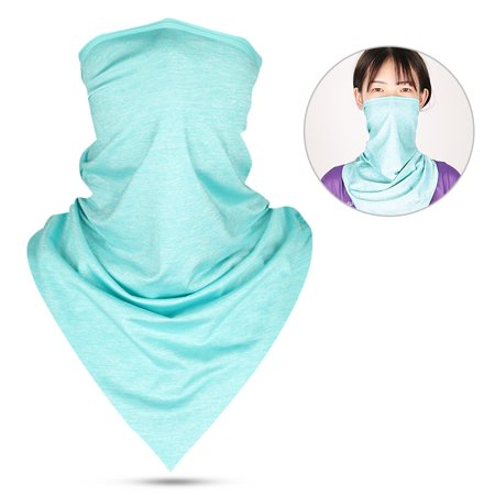Outdoor Sports Cycling Cooling Face Mask Sun Protection Neck Gaiter Triangle Bandana Scarf Headband for Men (Triangle Face Shape Men)