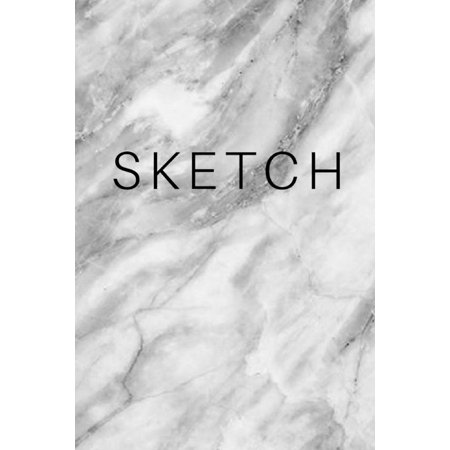 Sketch - Marble Art Sketch Book (Blank Notebook): (6x9) Blank Paper Sketchbook, 100 Pages, Durable Matte Cover (Paperback) ()